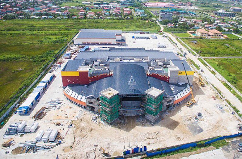 An aerial view of MovieTowne Guyana