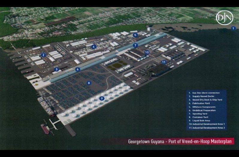 The Port of Vreed-en-Hoop masterplan (Photo courtesy of OilNow)