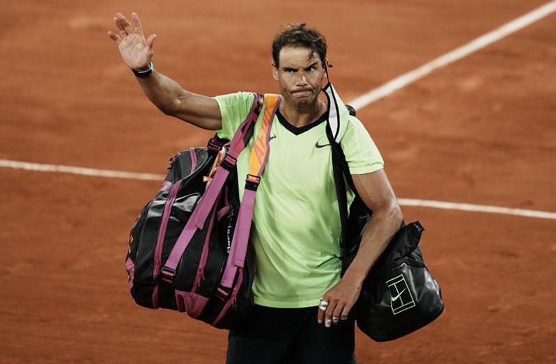 The 20-time grand slam winner Rafael Nadal