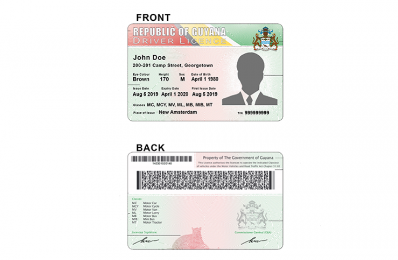 The new plastic card driver's licence