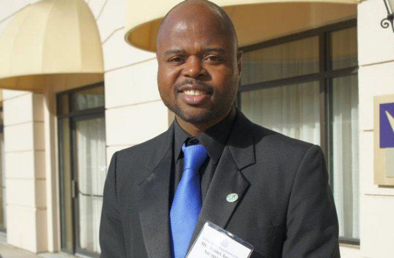 Executive Director of Youth Challenge Guyana Dmitri Nicholson