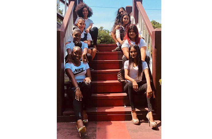 Delegates vying for the Miss Skeldon Heritage Resort pageant.