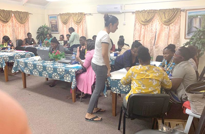 Rosie teaching a class in Essequibo