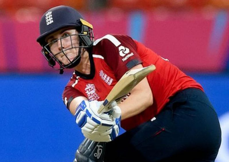 Natalie Sciver made 57 when England beat West Indies in March at the T20 World Cup.