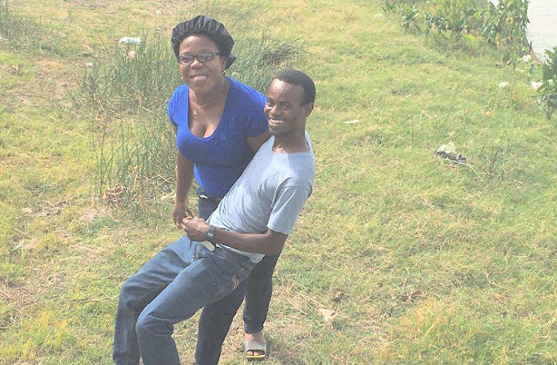 Jermain Scott and his wife, Cassandra Scott, in happier times