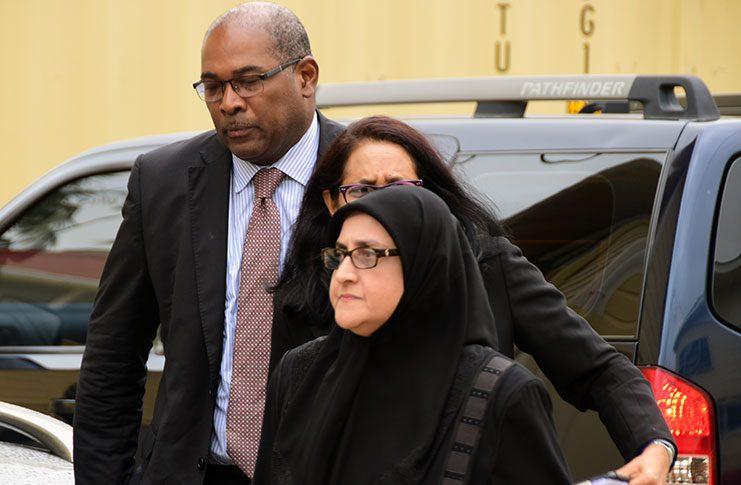 Director of Public Prosecutions, Shalimar Hack arrives at SOCU [Adrian Narine photo]