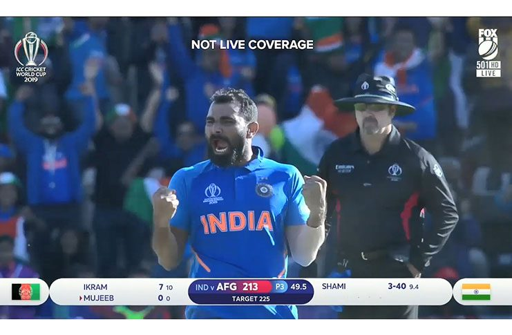 India's Mohammad Shami took a final-over hat-trick to seal a tense win over Afghanistan.