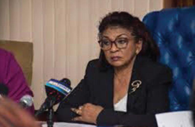 GECOM Chair Justice (Ret'd) Claudette Singh