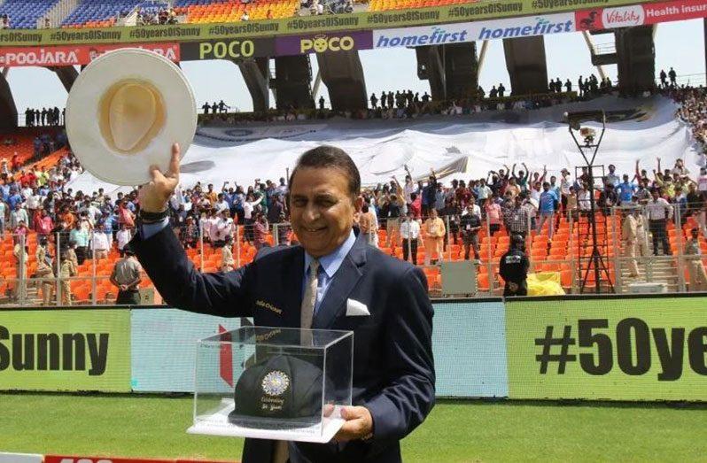 Sunil Gavaskar celebrating the 50th anniversary of his Test debut  (BCCI)