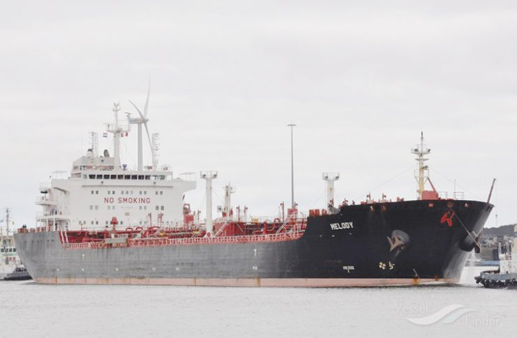 The New Melody tanker (Vessel Finder photo)