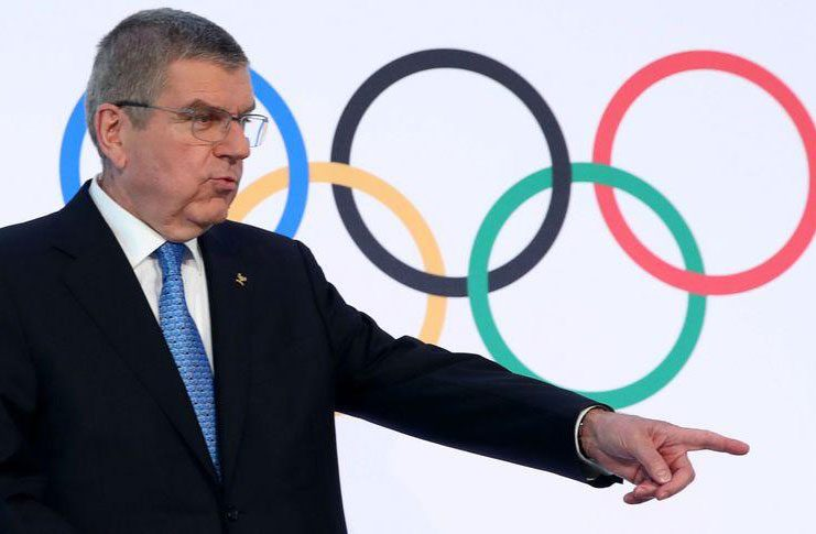 Thomas Bach, president of the IOC attends a news conference after an Executive Board meeting in Lausanne, Switzerland, yesterday. (REUTERS/Denis Balibouse)