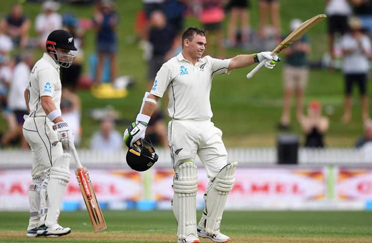 New Zealand batsman Tom Latham hit 105 in the New Zealand innings