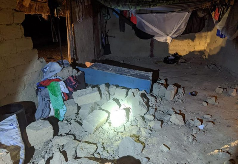 The damage caused by the earthquake in South Rupununi (South Rupununi District Council photo)
