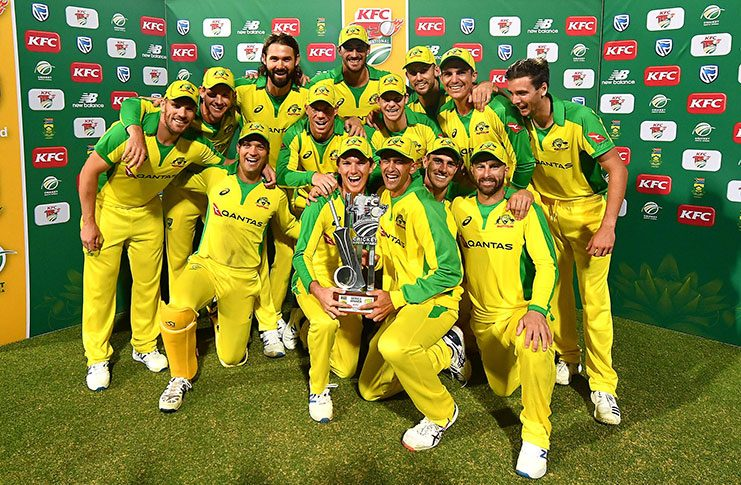Four T20I series in a row for Australia. (Getty Images)