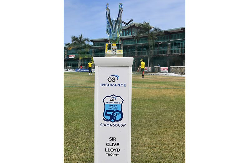 The new CG Insurance Super50 Cup Sir Clive Lloyd trophy