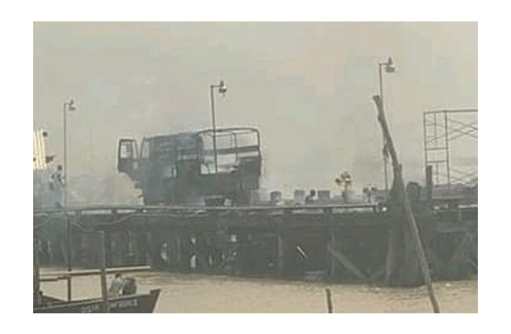 The truck which was involved in the incident.