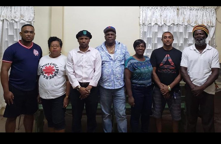 New UDCA president Jermaine Figueira (3rd from left) and the new executive body, following their recent AGM
