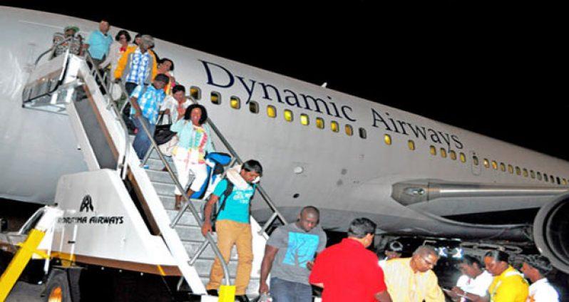 Dynamic Airways' at the Cheddi Jagan International Airport
