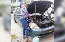 Vehicle A/C technician Ann Marie Machado.