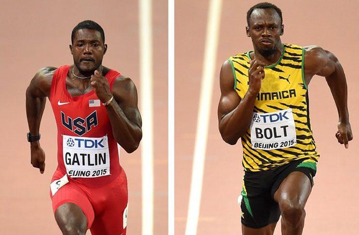 Usain Bolt (right) and Justin Gatlin