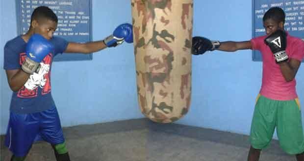 Jamaican boxers Joshua Forrest Davidson (at left) and Daniel Hylton