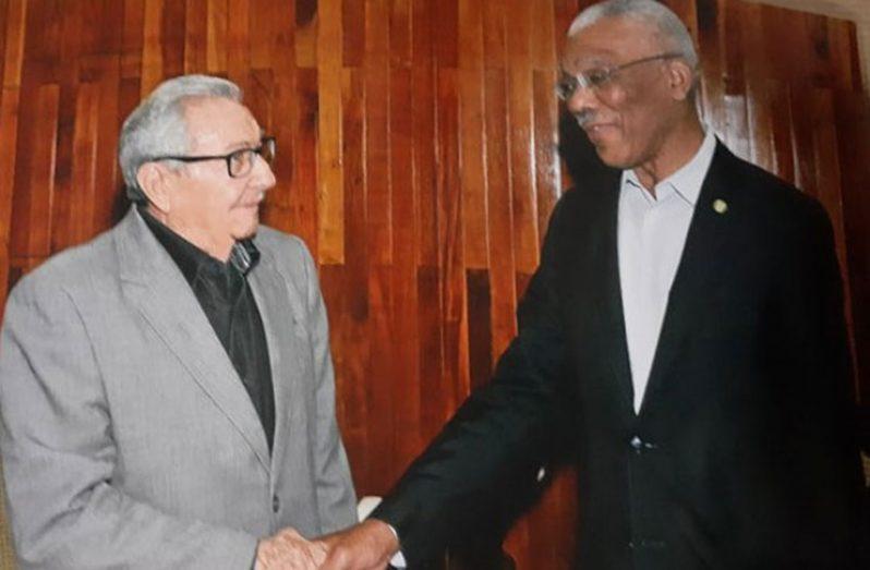 President David Granger and Former President of Cuba, Raul Castro Ruz
