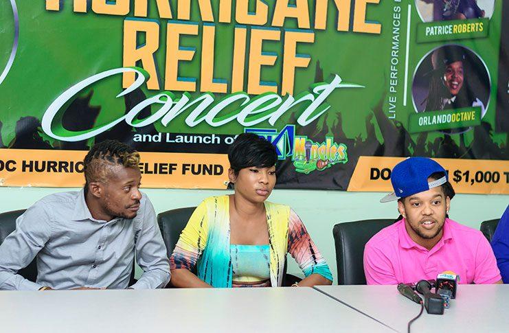 (L-R) Olatunji, Patrice Roberts and Orlando Octave (Delano Williams photo)