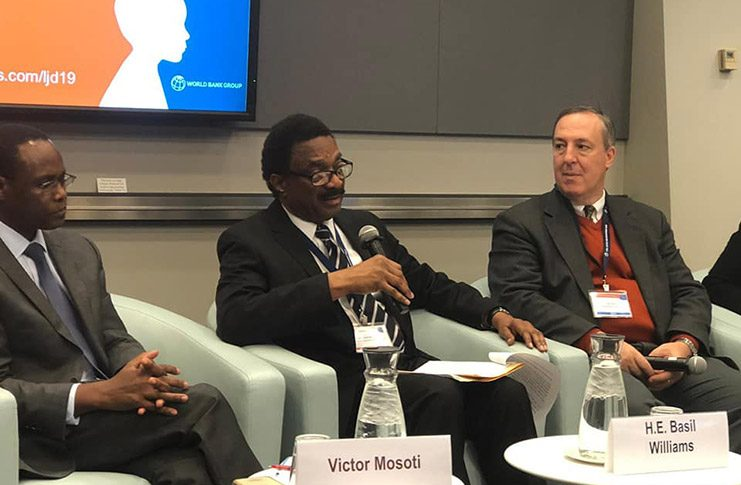Attorney General and Minister of Legal Affairs, Mr. Basil Williams on November 4th, 2019, participated in the opening session of the World Bank Group,