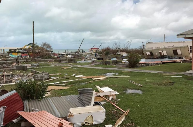 The aftermath of Hurricane Irma's destruction of Barbuda (Michael S. Browne photo)
