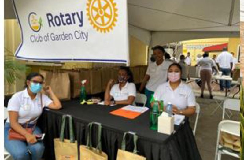 At the Rotary Club of the Garden City fundraiser last Sunday
