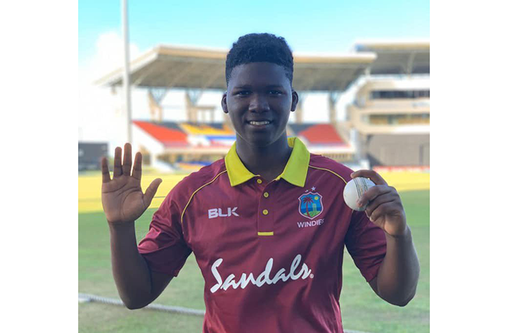 Left-arm spinner Ashmead Nedd returned excellent figures of five for 27.