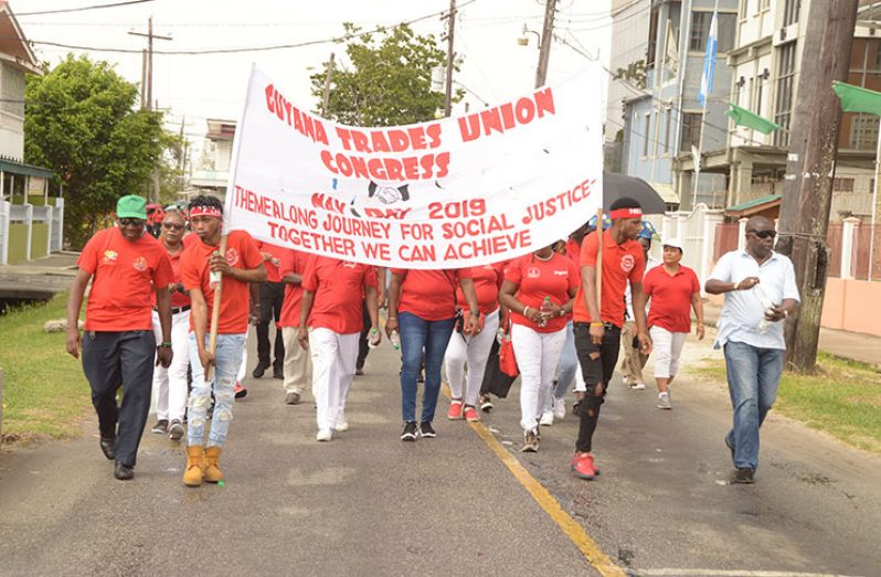 A section of the Labour Day Parade (Adrian Narine photo)