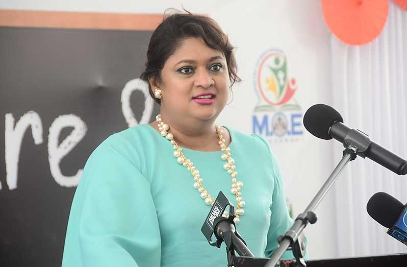 Minister of Education, Priya Manickchand