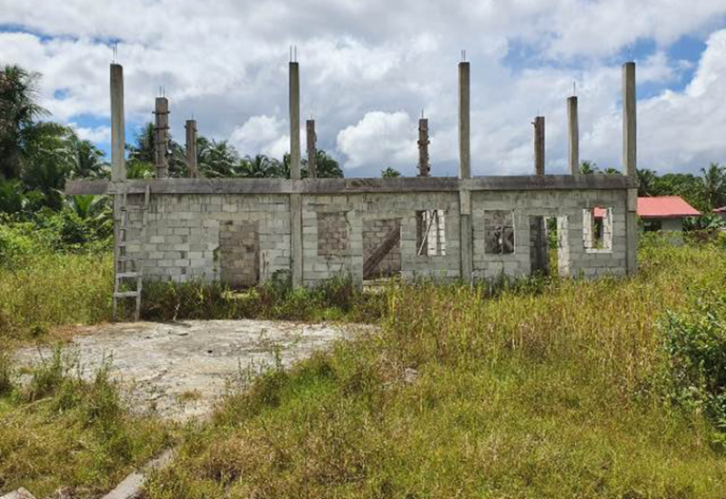 The abandoned community centre and ICT hub in West Watooka, where an alleged $2.2 million was given for the rearing of meat birds (DPI photos)