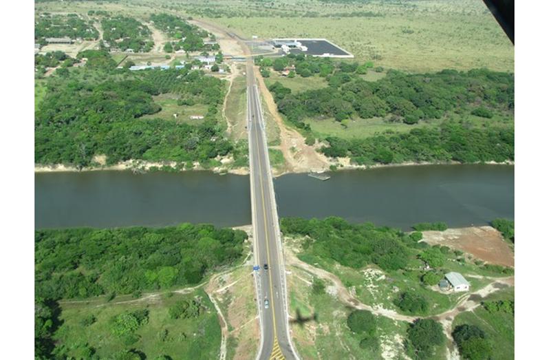 The Takutu Bridge linking Guyana and Brazil