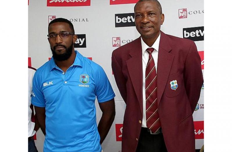West Indies selectors Miles Bascombe (left) and Roger Harper