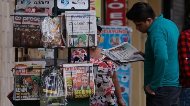 Ecuador fines media for not publishing a story