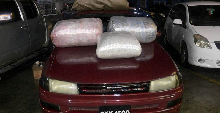 Car abandons with 100lbs of ganja